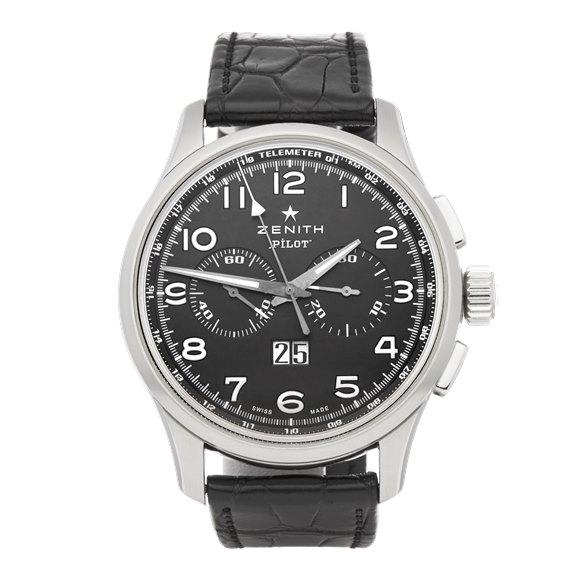 Zenith El Primero Pilot Chronograph Stainless Steel - 03.2410.4010/21.0722
