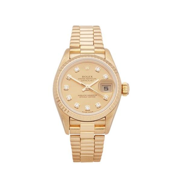 Rolex Datejust 26 Diamond Dial 18K Yellow Gold - 69173