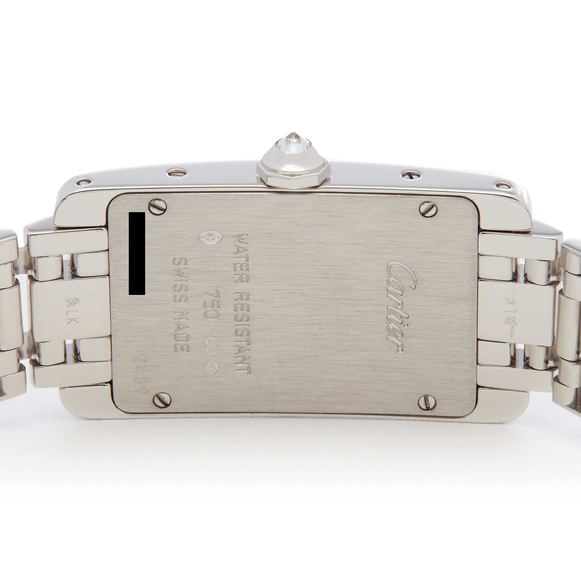 Cartier Tank Americaine Diamond 18K White Gold