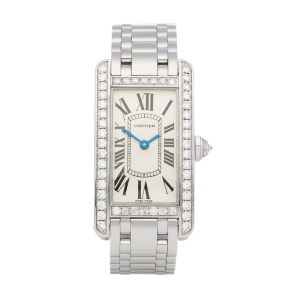 Cartier Tank Americaine Diamond 18K White Gold