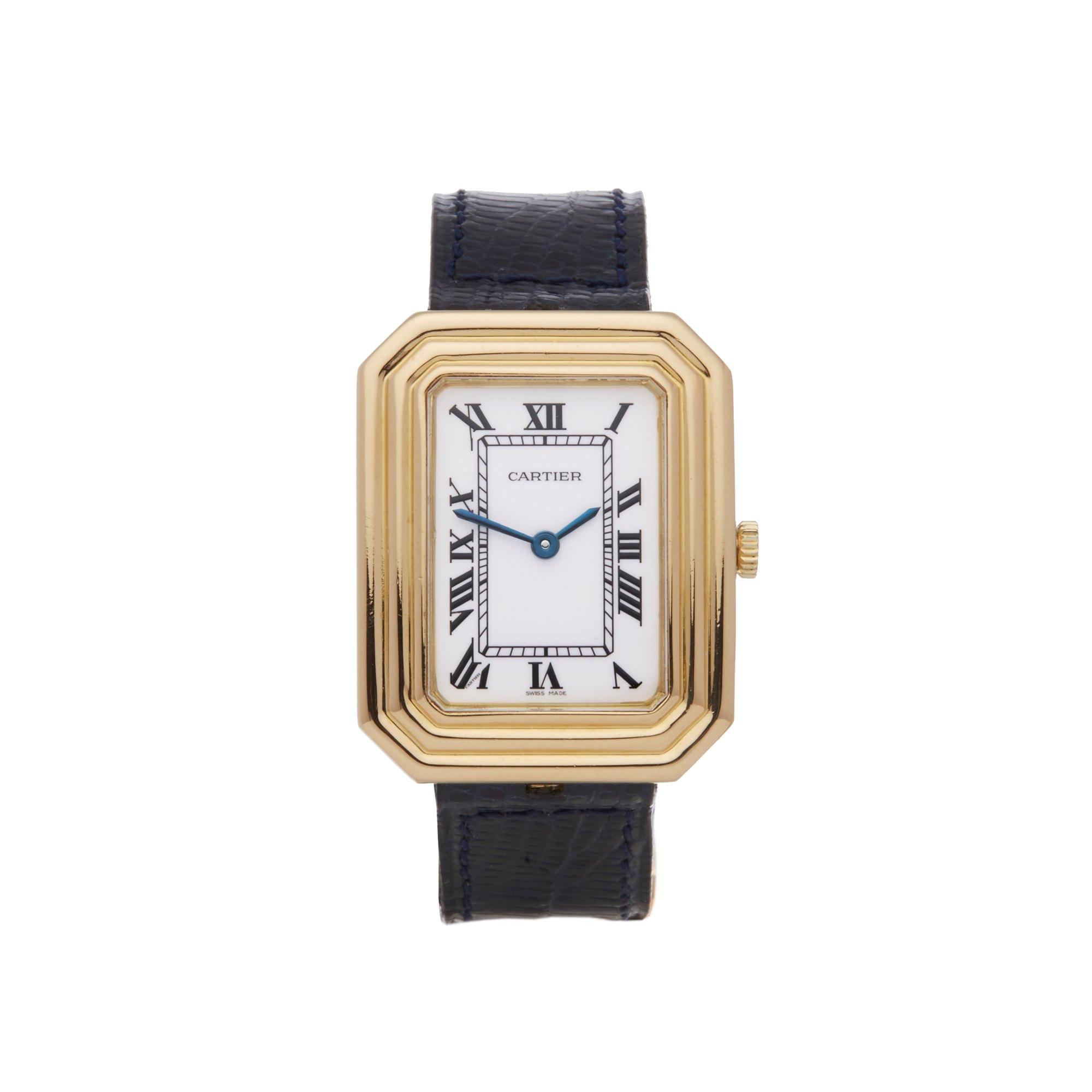 Cartier Cristallor Paris Enamel Dial 18K Yellow Gold