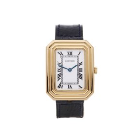 Cartier Cristallor Paris Enamel Dial 18K Yellow Gold