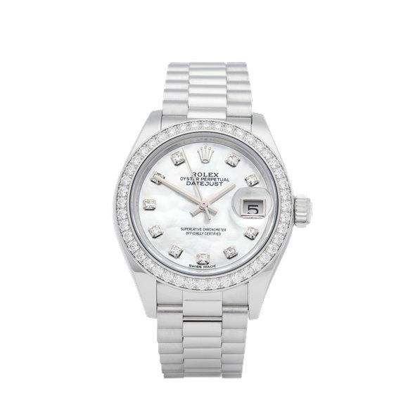 Rolex Datejust 28 Diamond Platinum - 279136RBR