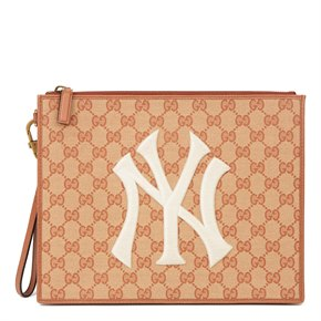 Gucci Brick Monogram Canvas Yankees Pouch