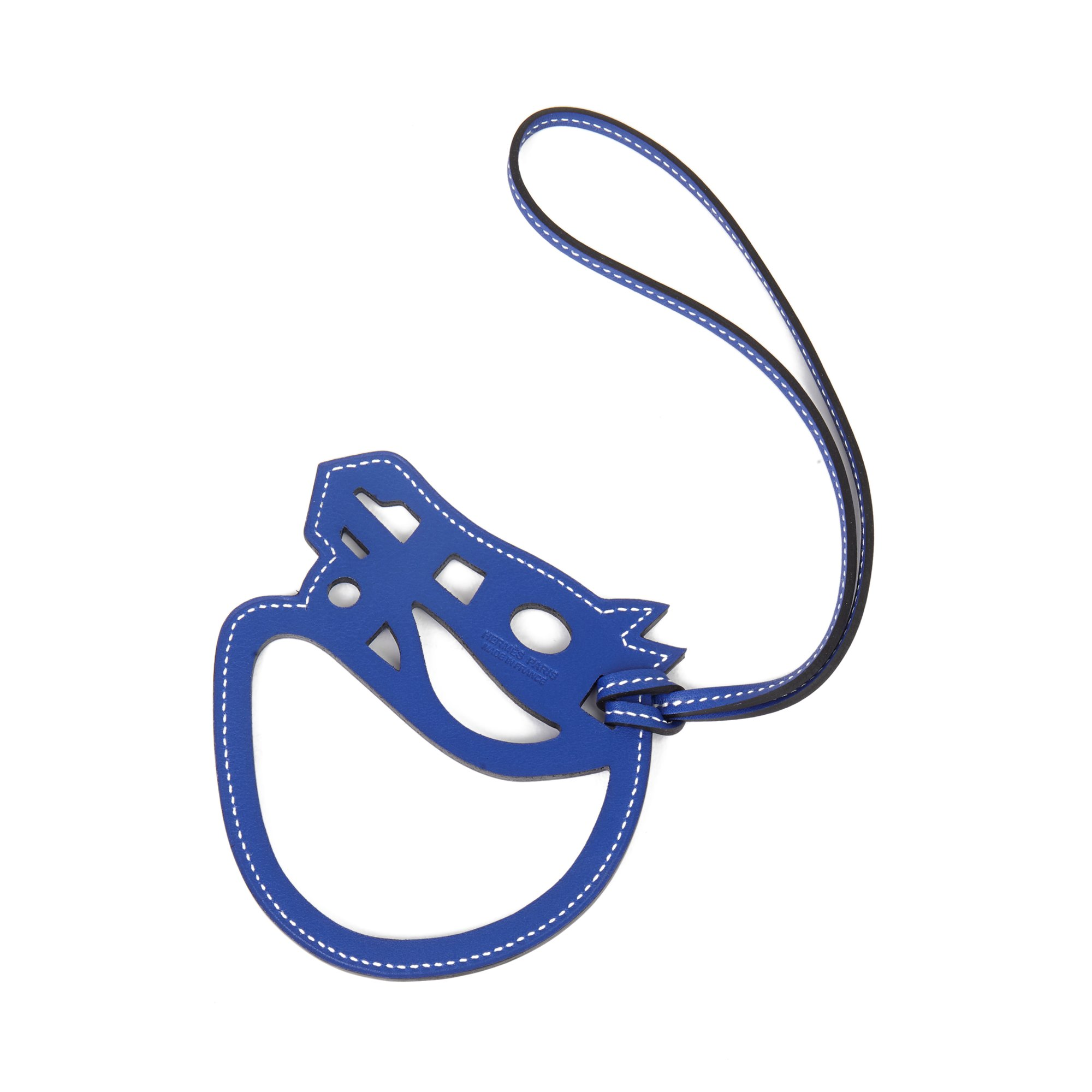 Hermès Bleu Electric Swift Leather Paddock Cheval Charm