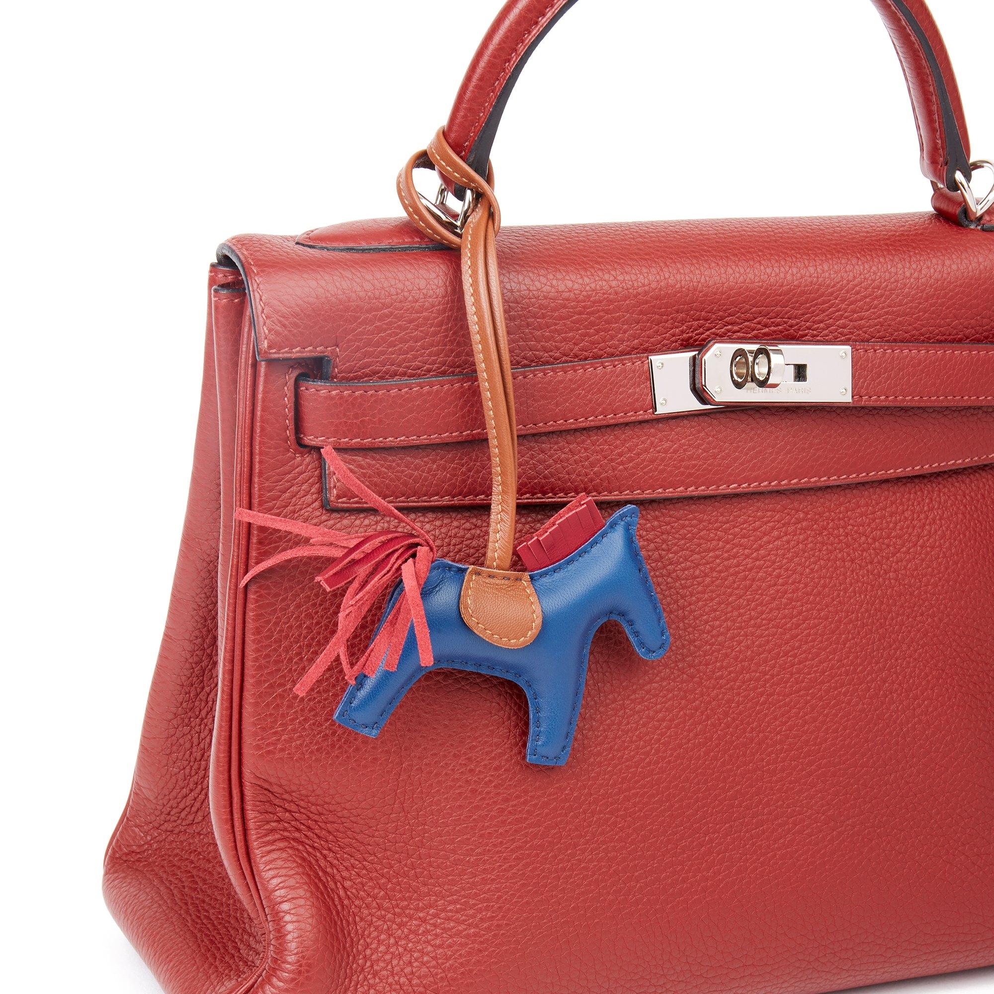 Hermès Fauve, Rubis & Bleu de Malte Swift Leather Rodeo PM
