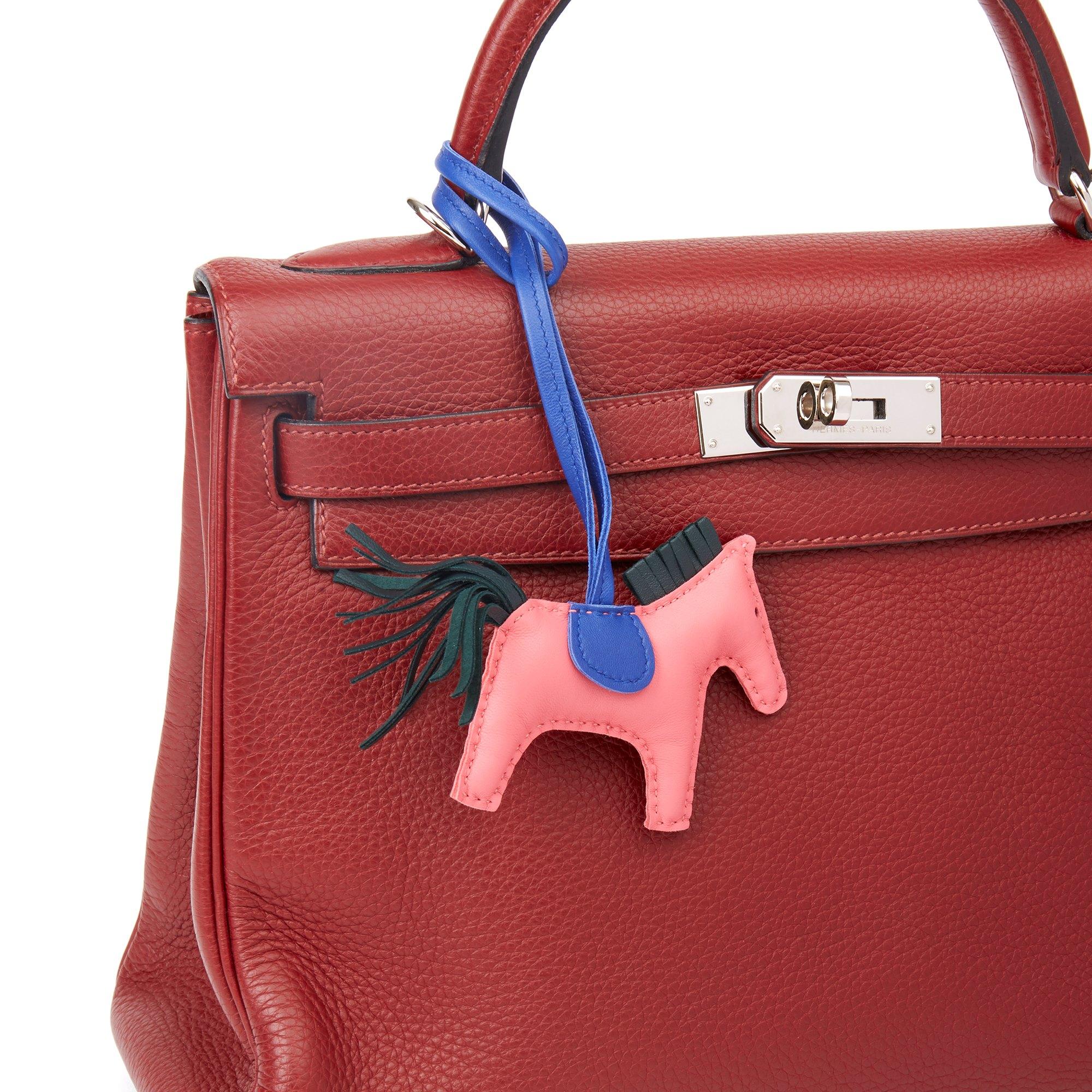 Hermès Bleu Electric, Vert Fonce & Rose Azalee Swift Leather Rodeo PM