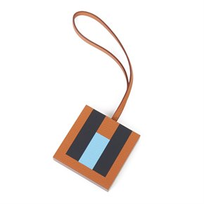 Hermès Gold Epsom Leather, Celeste Chevre Mysore Leather & Bleu Obscur Sombrero Leather 'H' Lettre Charm