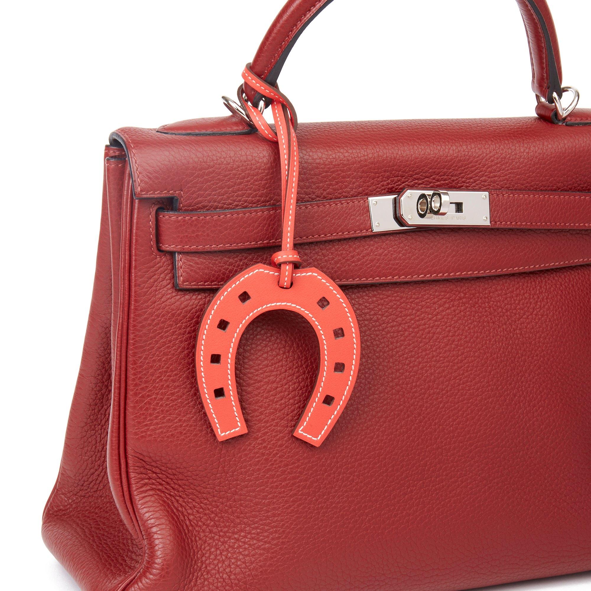 Hermès Rose Jaipur Swift Leather Paddock Horseshoe Charm