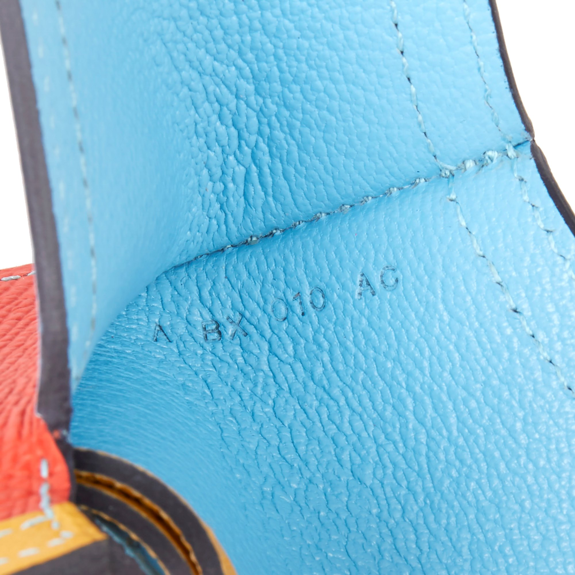 Hermès Celeste, Capucine & Ambre Epsom Leather Camail Key Holder Charm