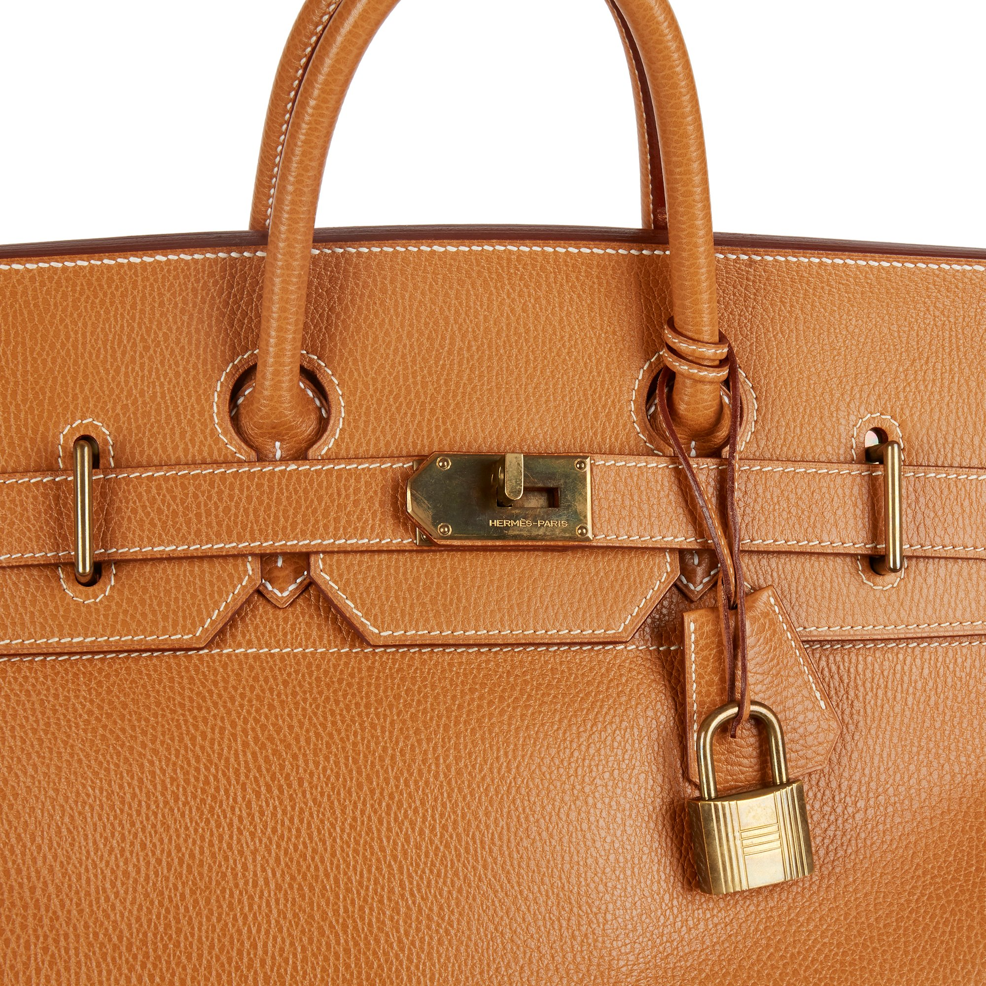 Hermès Natural Ardennes Leather Vintage Birkin 50cm HAC