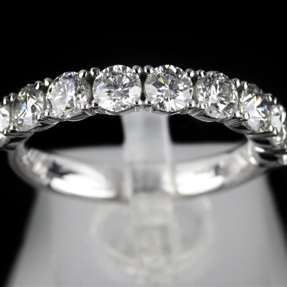 Mappin & Webb Platinum 1.37 cts G VS1 Diamond Half Eternity Ring Size L