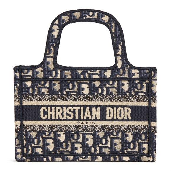 Christian Dior Blue Oblique Monogram Canvas Mini Book Tote
