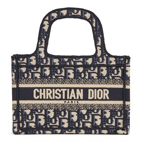 Christian Dior Blue Oblique Monogram Canvas Mini Book Tote