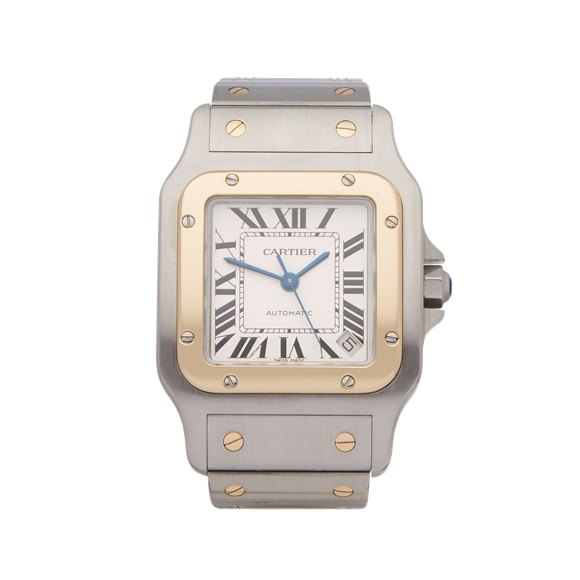 Cartier Santos Galbee Stainless Steel & Yellow Gold - 2823