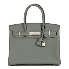 Hermès Vert Amande Togo Leather Birkin 30cm
