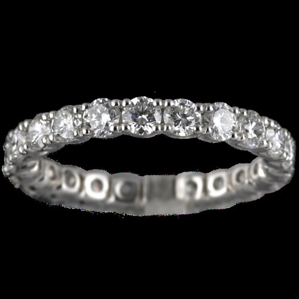 Mappin & Webb 18K White Gold 2.09 cts G VS1 Diamond Full Eternity Ring Size K
