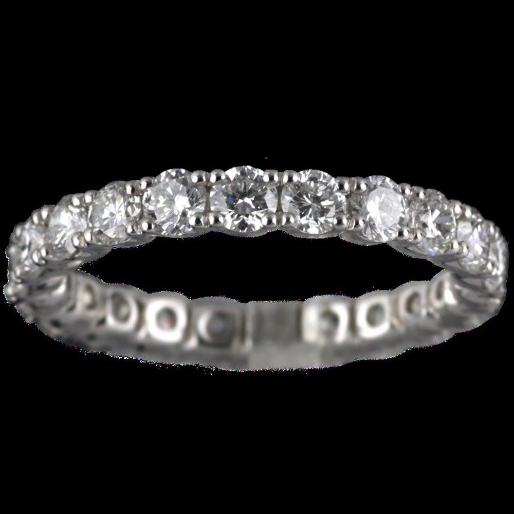 Mappin & Webb 18K White Gold 2.09 cts G VS1 Diamond Full Eternity Ring Size K