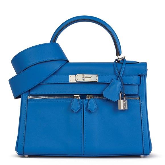 Hermès Bleu Zellige Swift Leather Kelly 28cm Lakis