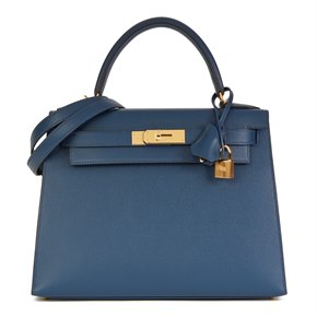 Hermès Bleu de Malte Epsom Leather Kelly 28cm