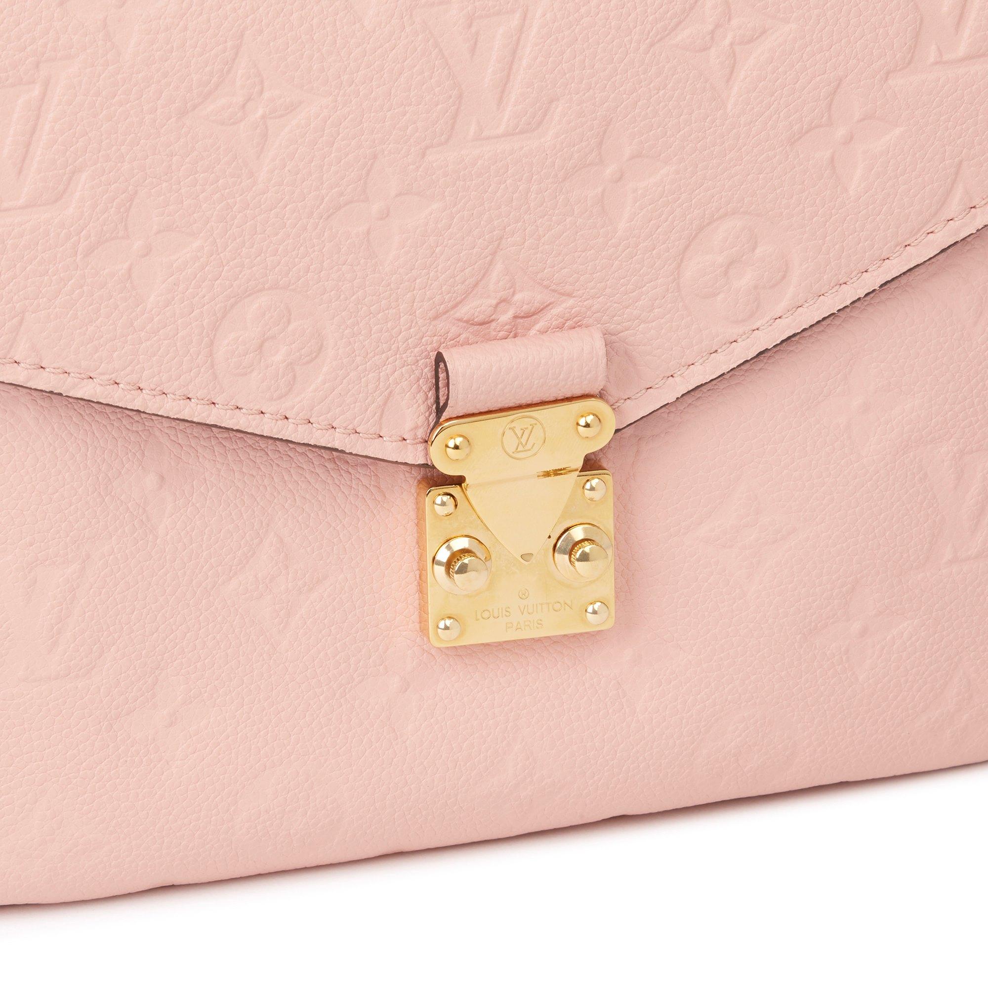 Louis Vuitton Rose Poudre Monogram Empreinte Leather Pochette Metis