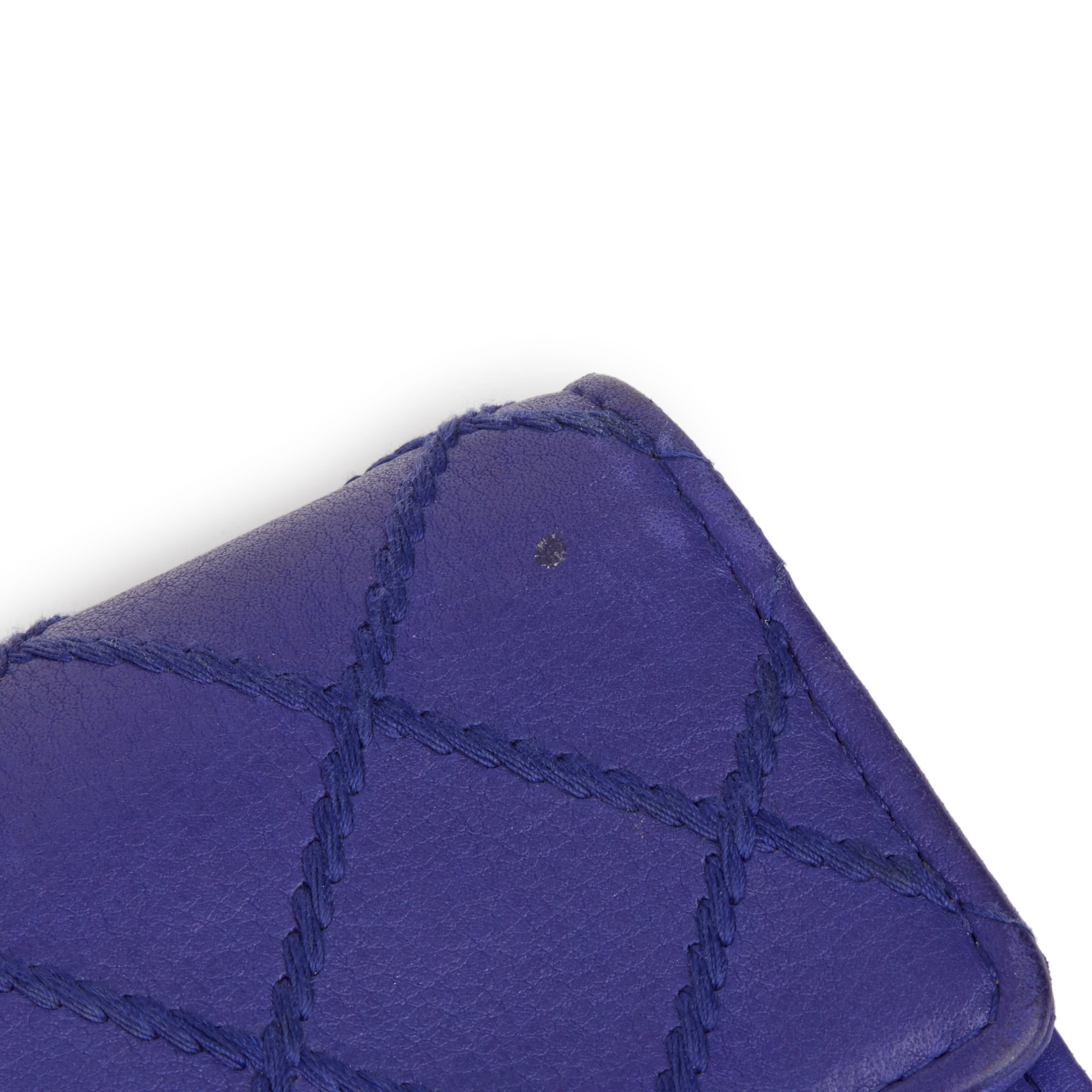 Chanel Electric Blue Quilted Lambskin Wallet