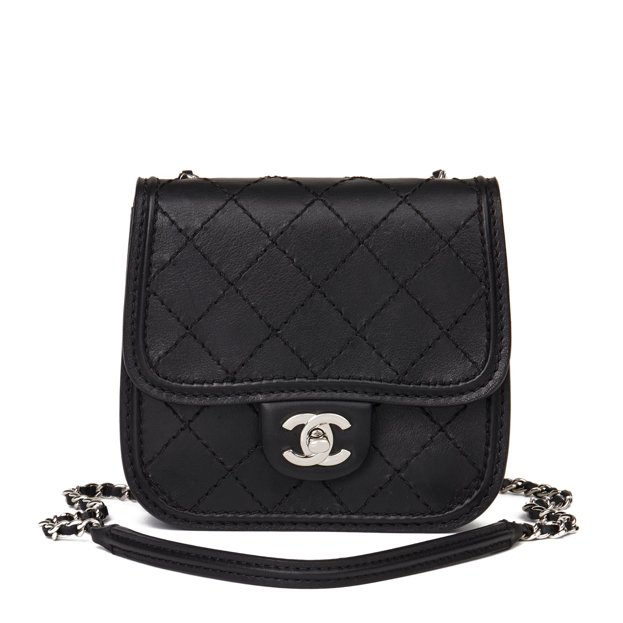 Chanel Black Quilted Calfskin Leather Citizen Mini Flap Bag