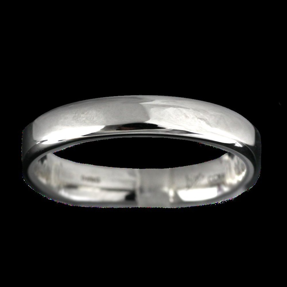 Mappin & Webb Platinum Wedding 4mm Thick D Band Mens Size T