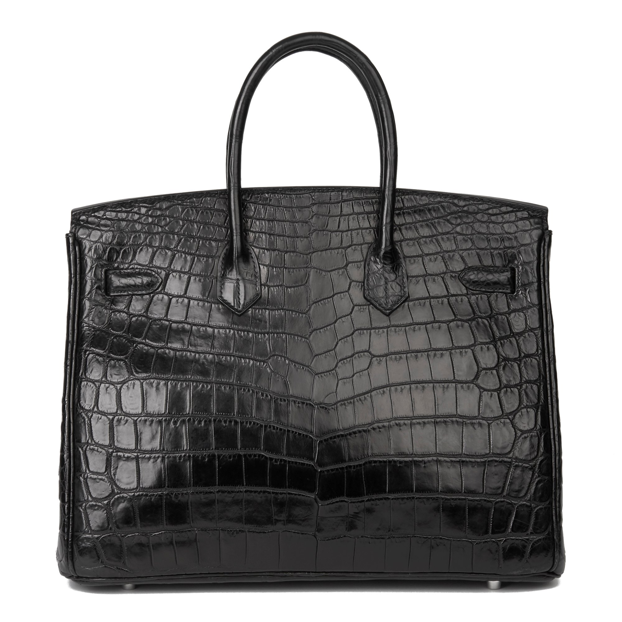 Hermès Black Matte Niloticus Crocodile Leather Birkin 35cm