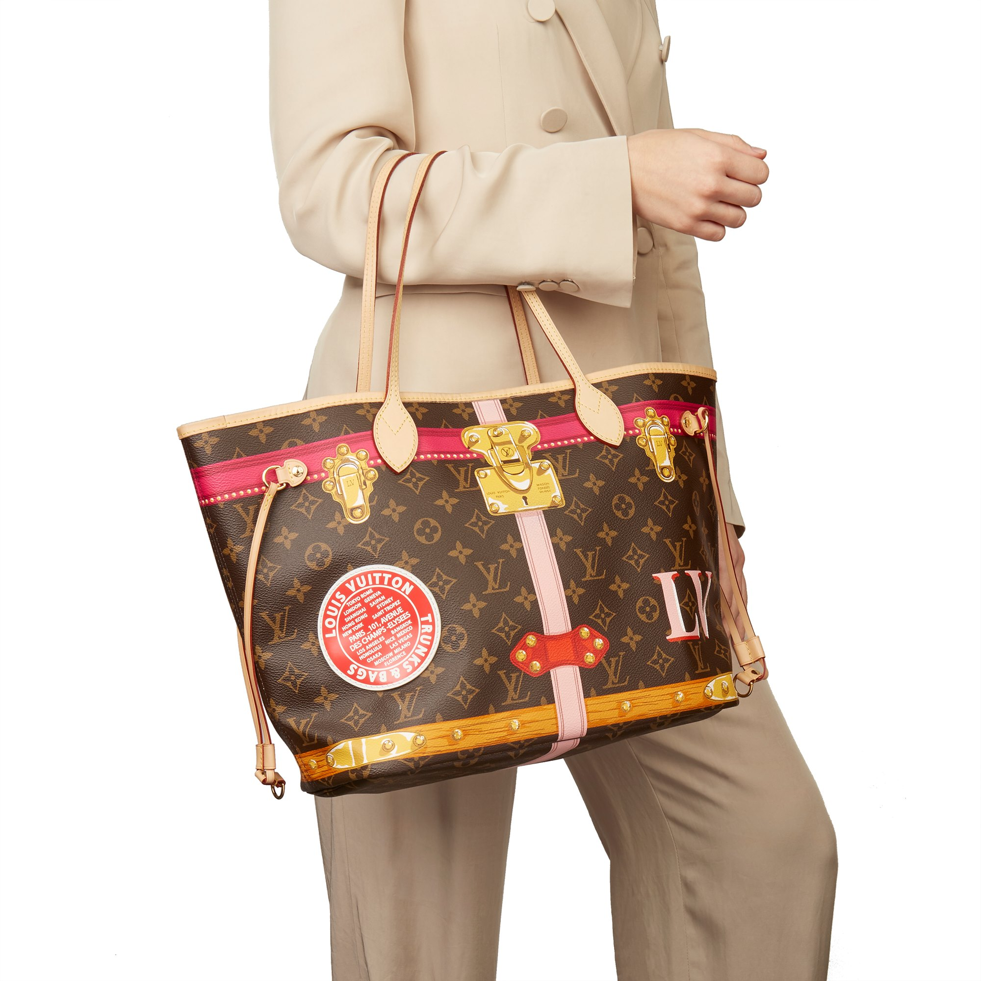 Louis Vuitton Brown Monogram Coated Canvas Summer Trunks Neverfull MM