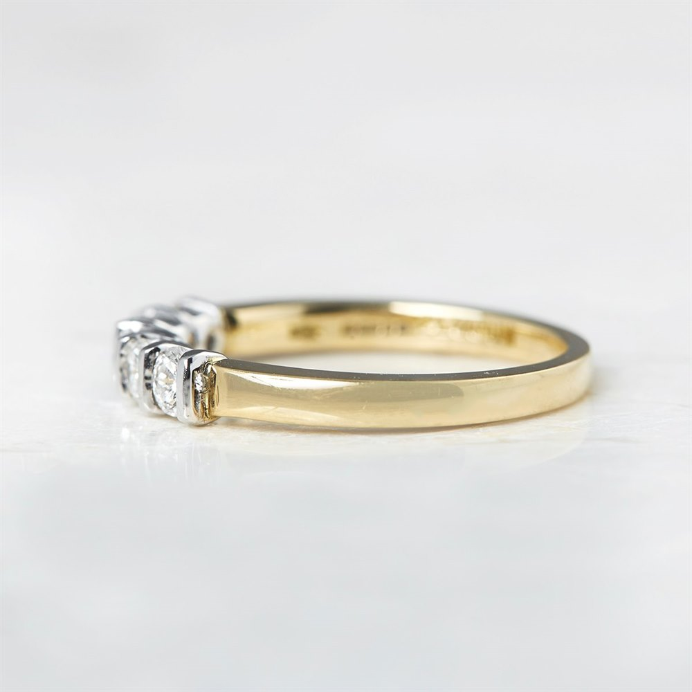 Mappin & Webb 18k Yellow Gold & Platinum 0.50ct Diamond Five Stone Ring