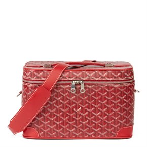 Goyard Red Chevron Canvas Train Case