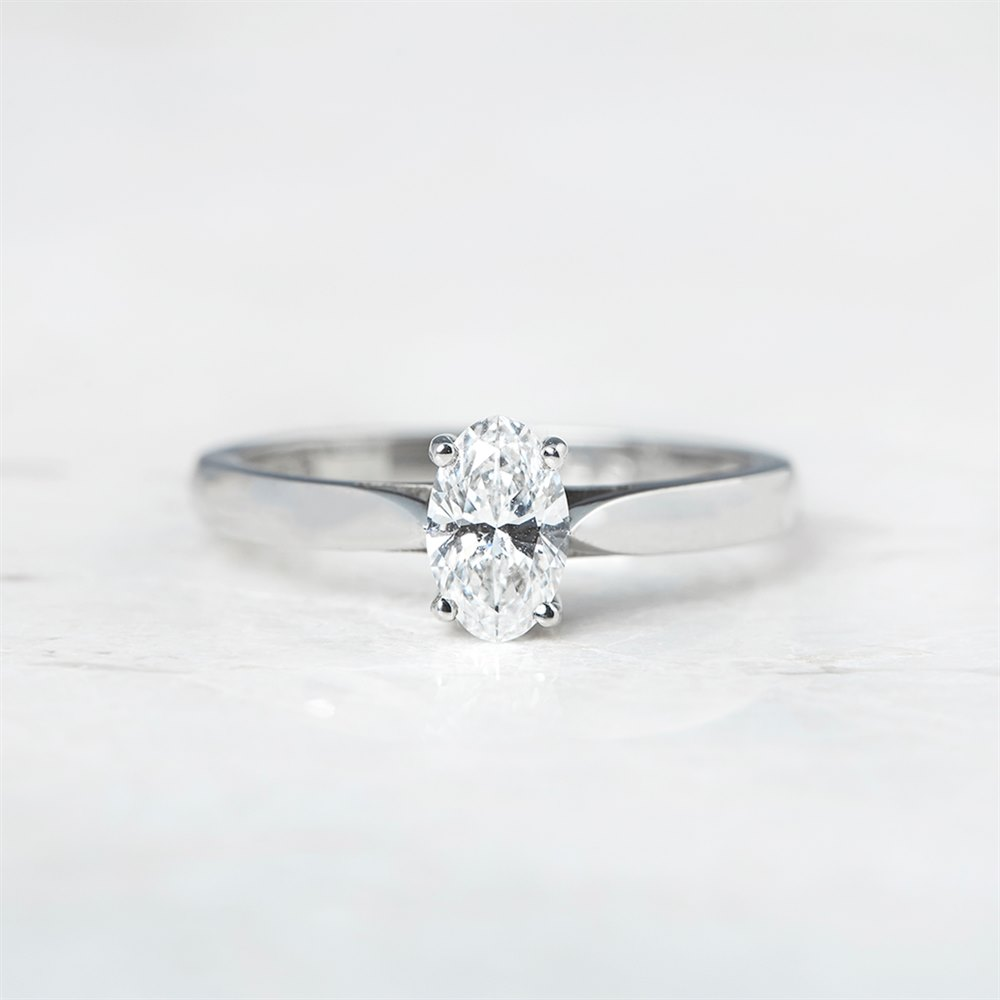 Mappin & Webb Platinum Oval Cut 0.50ct Diamond Ring