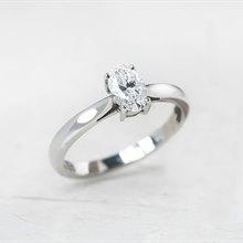 Mappin & Webb Platinum Oval Cut 0.50ct Diamond Ring