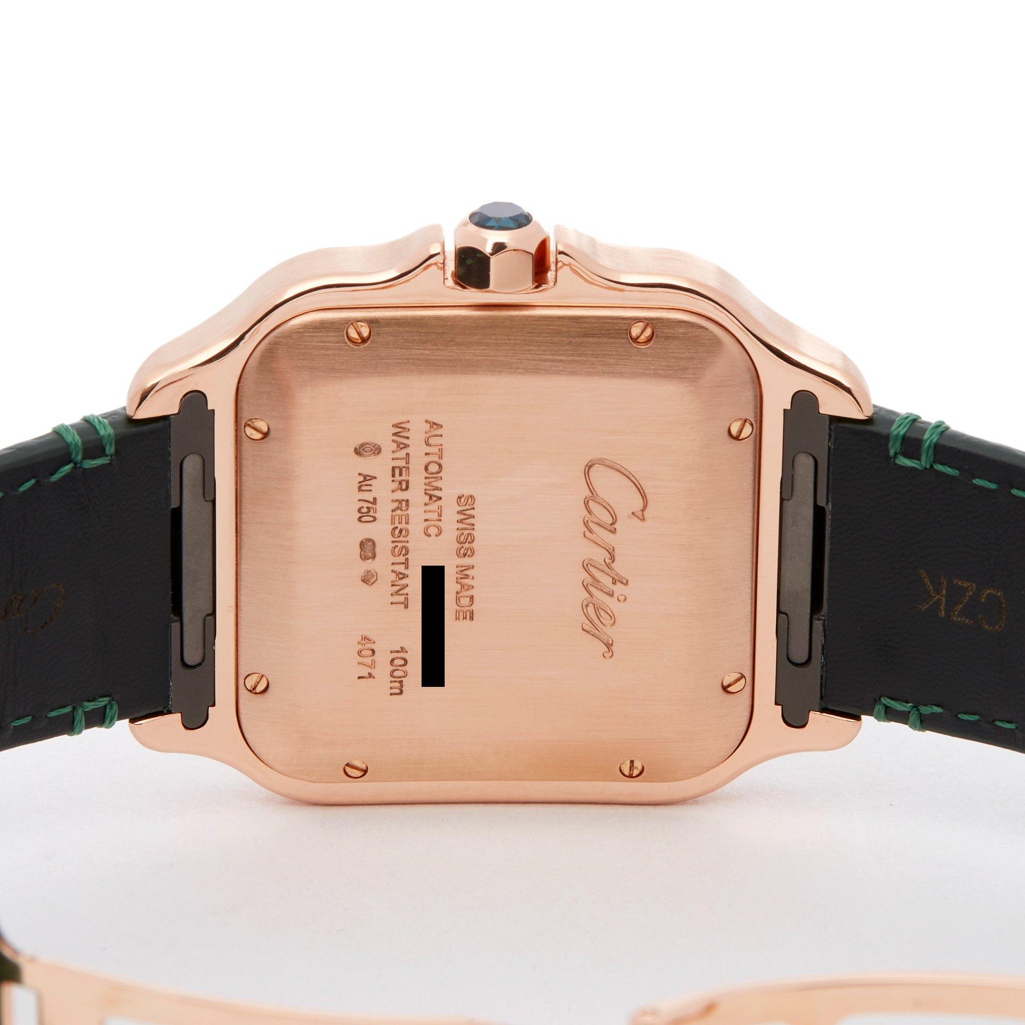 Cartier Santos De Cartier 18K Rose Goud WGSA0011 or 4071