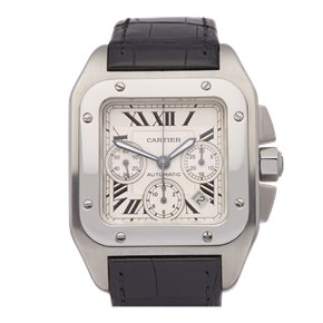 Cartier Santos 100 XL Chronograph Stainless Steel - W20090X8 or 2740