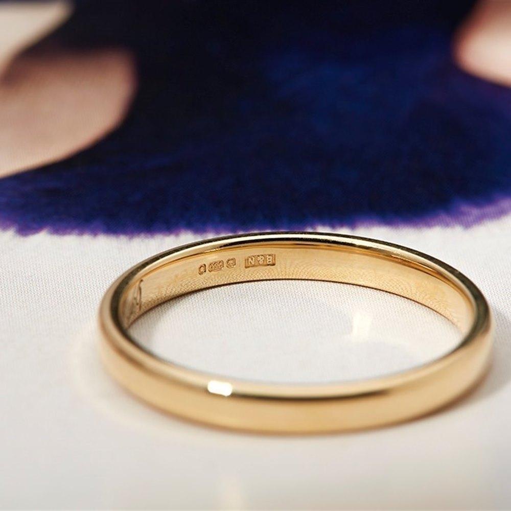 Mappin & Webb 18k Yellow Gold Plain Wedding Band