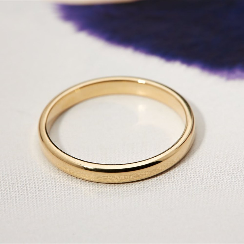 Mappin & Webb 18k Yellow Gold Plain Wedding Band