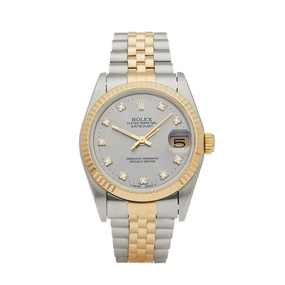 Rolex Datejust 31 Diamond Stainless Steel & Yellow Gold - 68273
