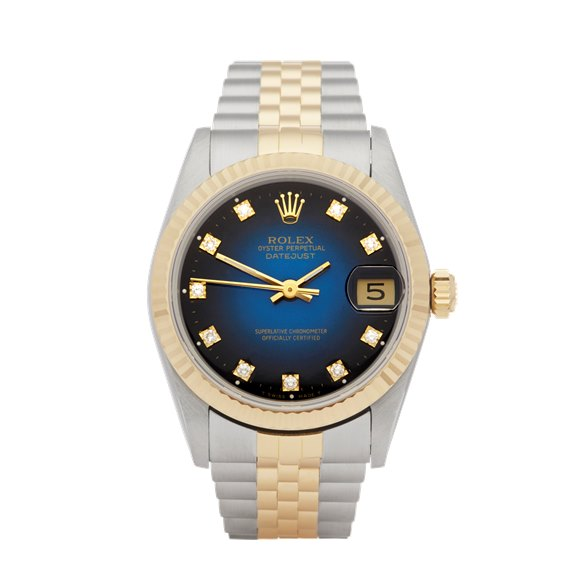 Rolex Datejust 31 Graduated Diamond Dial Stainless Steel & Yellow Gold - 68273