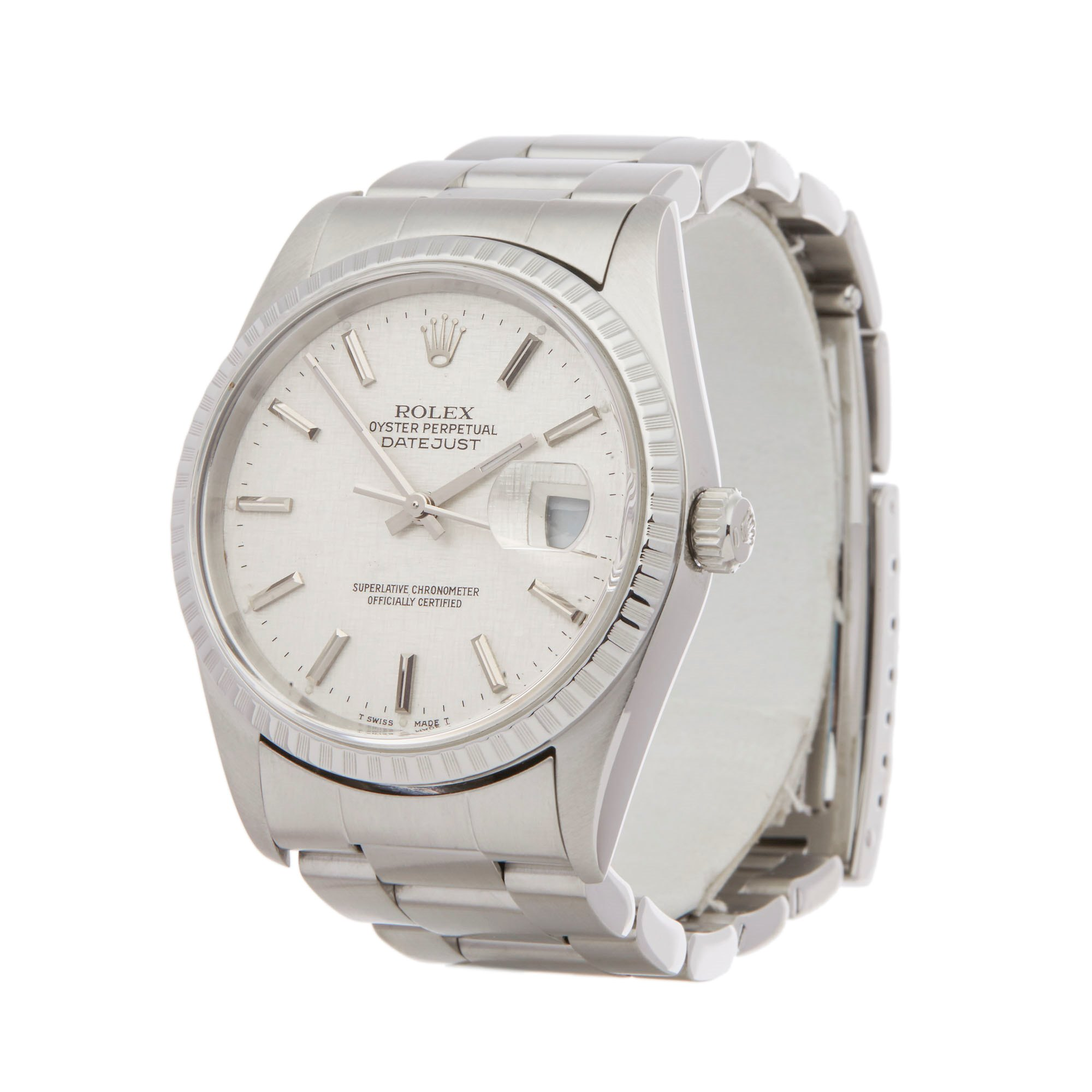 Rolex Datejust 36 Linen Dial Roestvrij Staal 16220