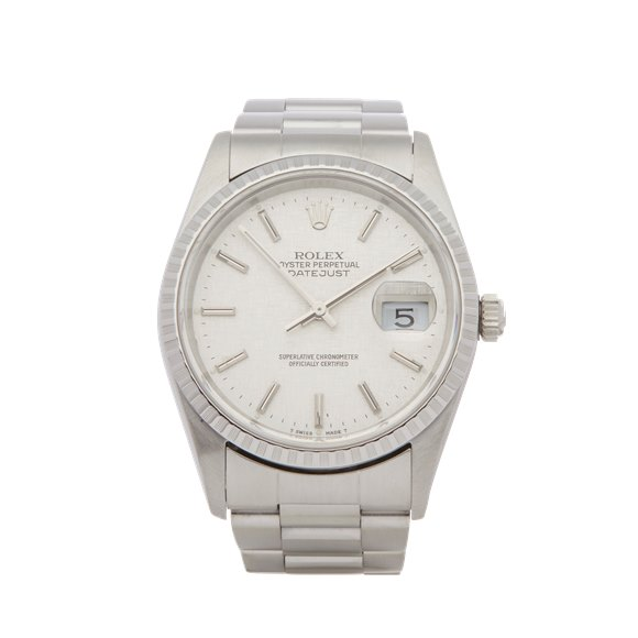 Rolex Datejust 36 Linen Dial Stainless Steel - 16220