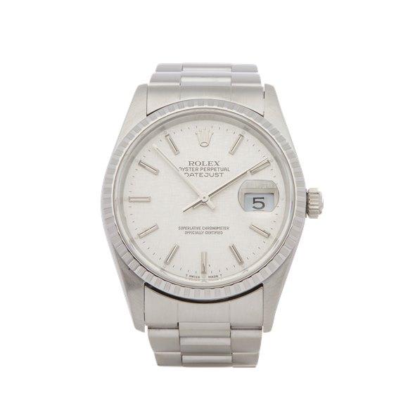 Rolex Datejust 36 Linen Dial Stainless Steel - 16220