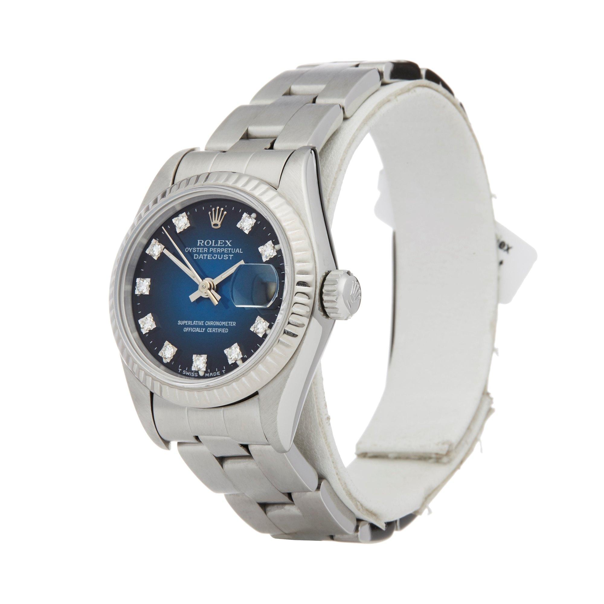 Rolex Datejust 26 Graduated Diamond Stainless Steel 69174