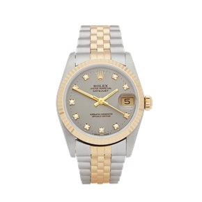 Rolex Datejust 31 Diamond Stainless Steel & Yellow Gold - 68273G