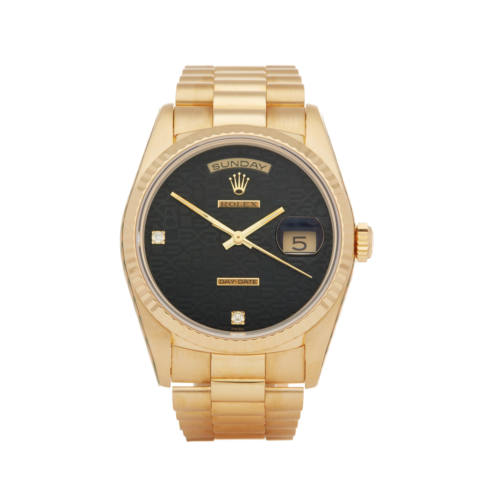 Rolex Day-Date 36 Diamond Jubilee 18K Geel Goud 18238