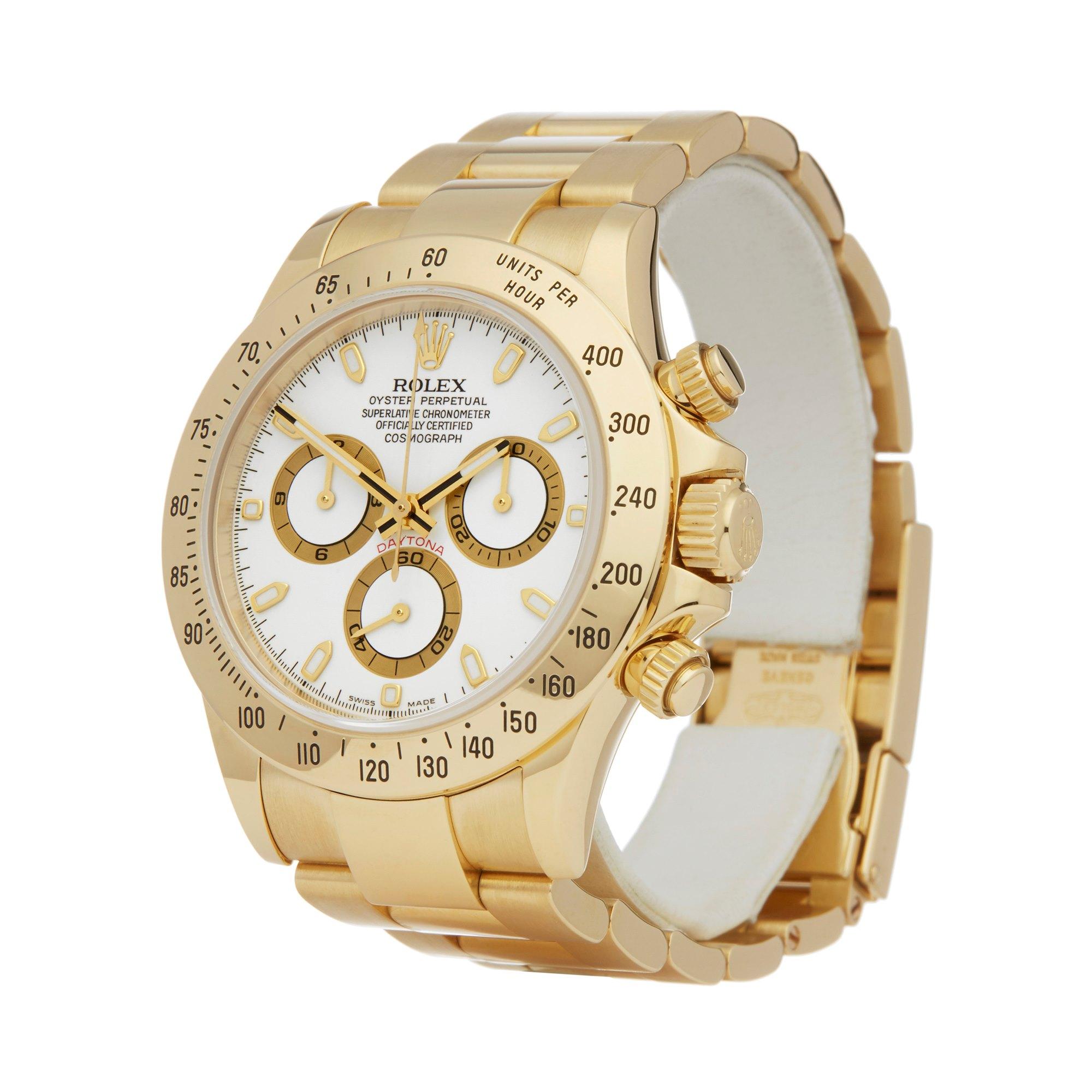 Rolex Daytona Chronograph NOS 18K Yellow Gold 116528