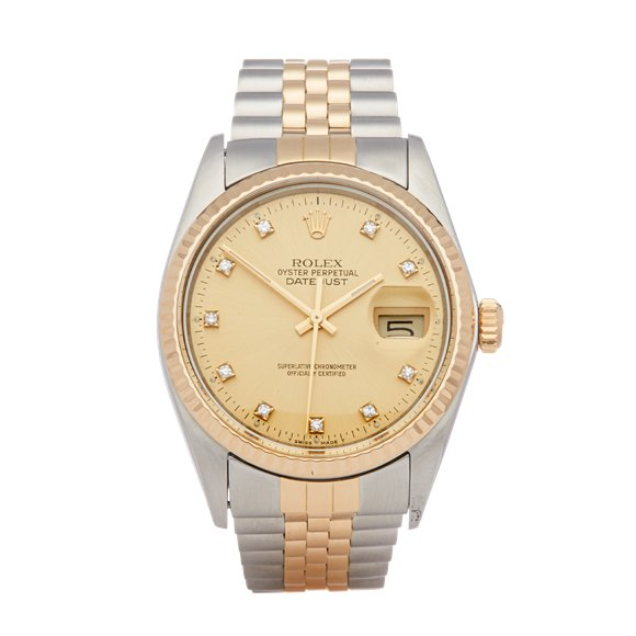 Rolex Datejust 36 Diamond Stainless Steel & Yellow Gold - 16013G