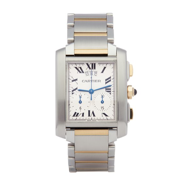 Cartier Tank Francaise Stainless Steel & Yellow Gold - 2653 or W51025Q4