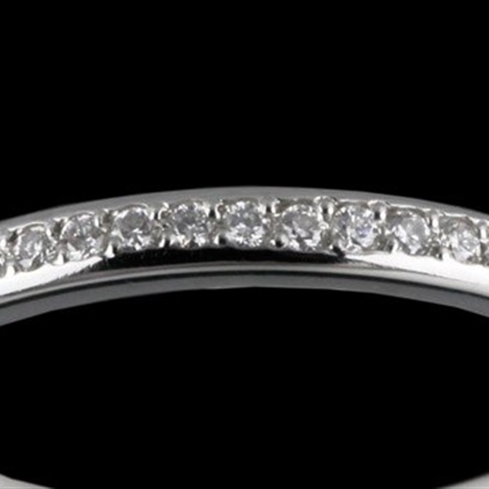 Mappin & Webb Platinum Diamond Wedding Band 0.15 cts G VS1 Ring Size M.5